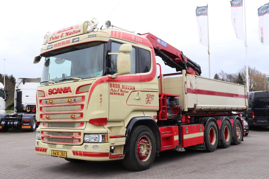 Scania R580 LB 8×4*4 HNB m. Hejs/Kran
