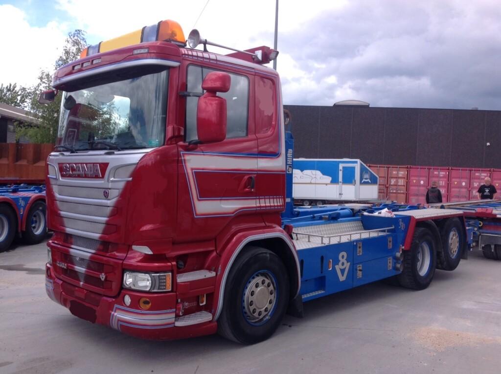 Scania R580 LB6x2*4HNB m. HIAB Kroghejs