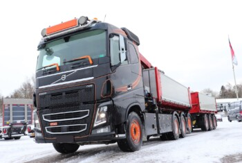 Kommission – Volvo FH16 750 8×4-4 m. Wirehejs/Kran